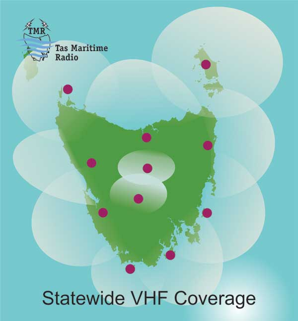 VHF coverage throughout Tasmania