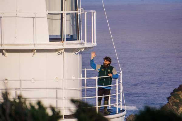 Grant on the lighthouse